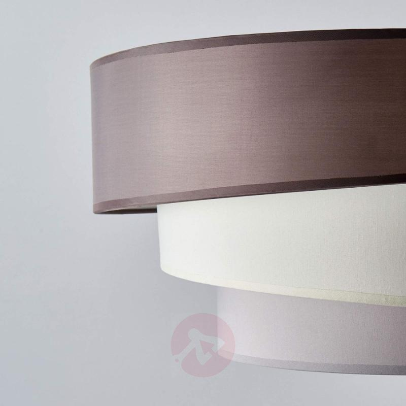 Three-layer ceiling light Melia in brown and grey - indoor-lighting