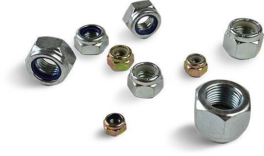 Nødder med Nylon - Nylon-insert låsemøtrikker er fremragende til brug, hvor en langsigtet lås er nø