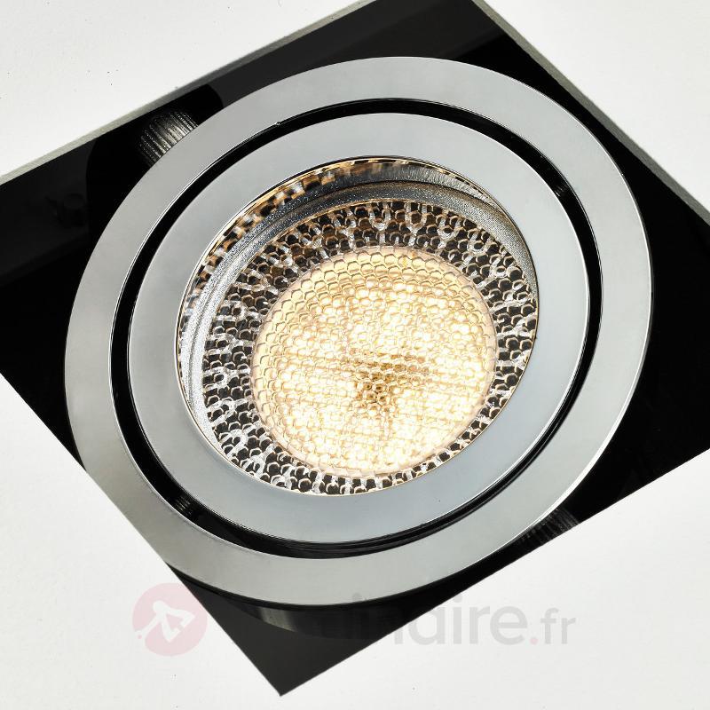 Plafonnier LED à 3 lampes Vince en blanc - Plafonniers LED