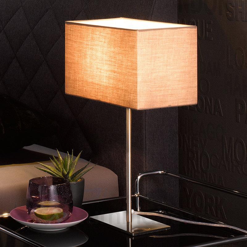 Somptueuse lampe à poser Kempten - Lampes à poser en tissu