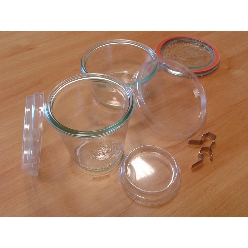 24 transparent plastic lids  - for Weck jars diameter 80 mm