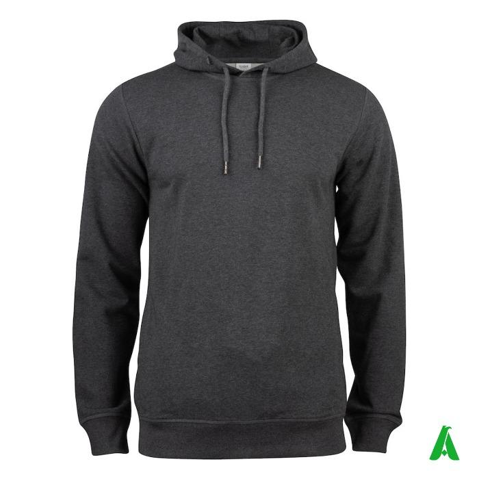 Felpa 100% cotone organico di qualita', con cappuccio - Felpa con cappuccio in tessuto 100% cotone organico personalizzabile con logo.