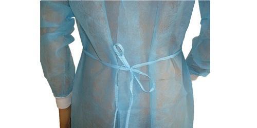Robe chirurgicale bleue en PP -