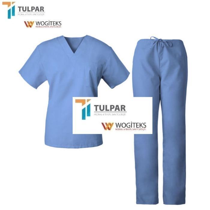 Nurse Uniform Hospital Scrubs Medical Uniform - Custom label OEM service fashionable short sleeves nurse scrubs hospital uniform