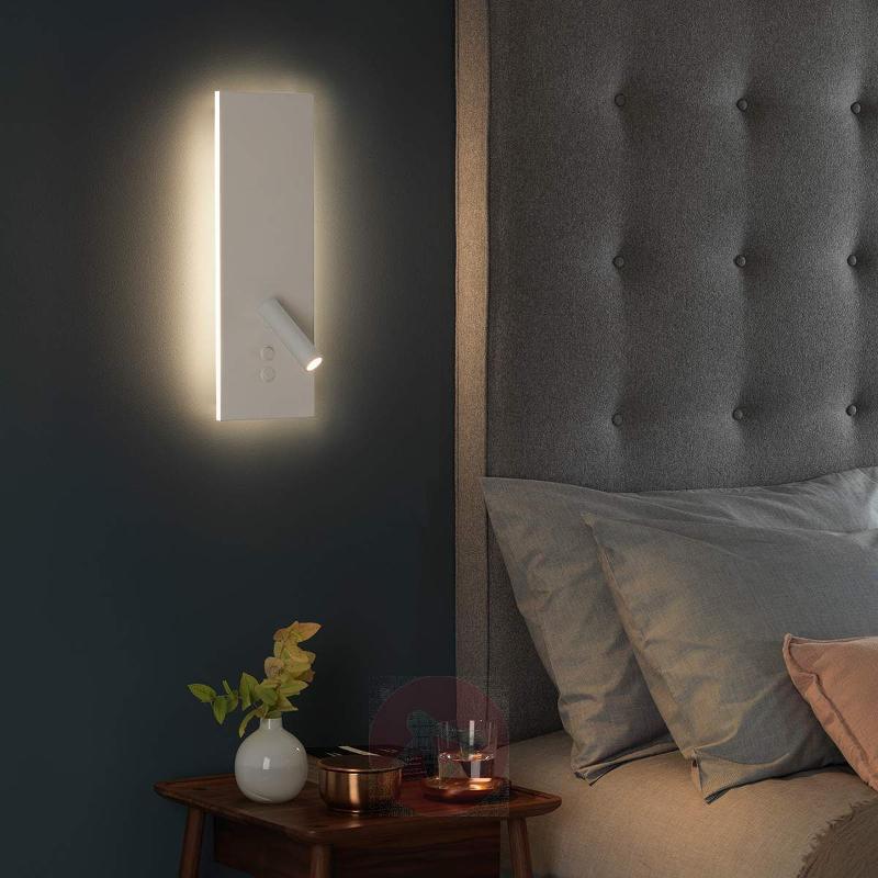White LED wall light Edge Reader, modern design - Wall Lights