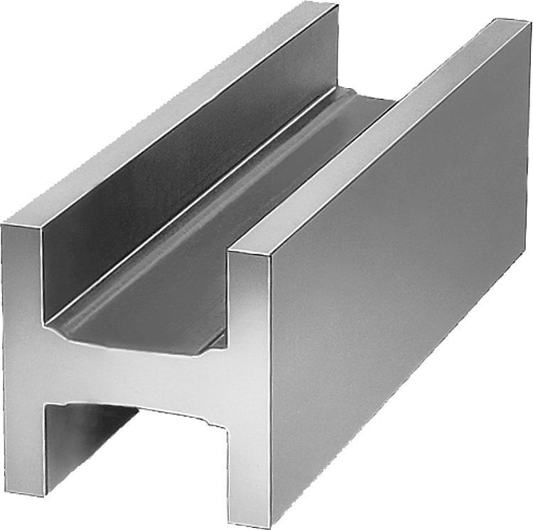 Profil en H Fonte grise et aluminium - Profilés