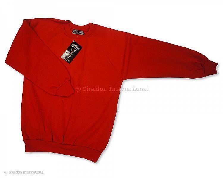 School Jogging Top/Sweater - Red - Sportswear