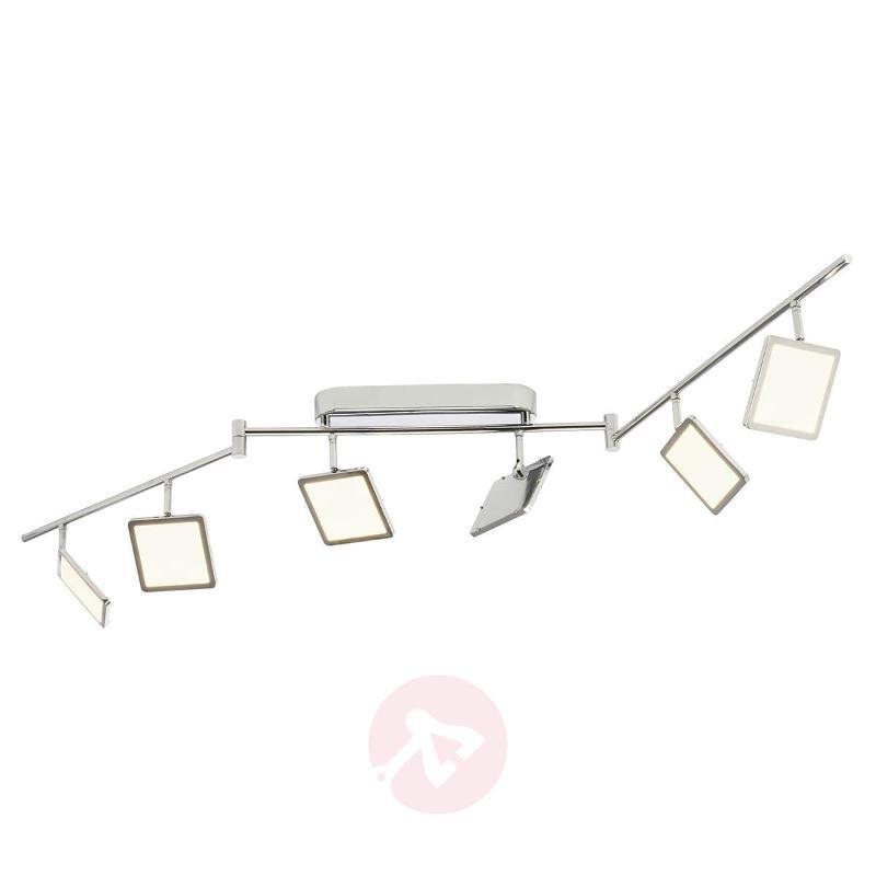 Glossy chrome LED ceiling lamp Uranus, easydim - Spotlights