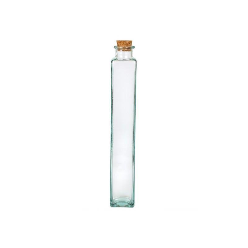 6 Bouteilles Malva 500 ml transparentes, bouchon en liège - Flacons et Carafes