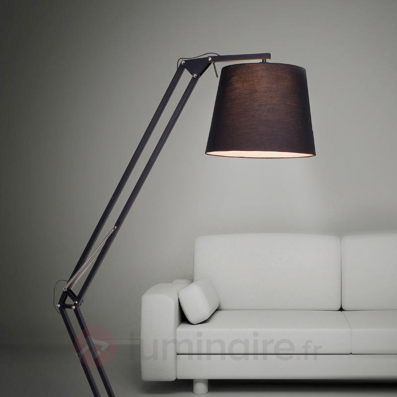 Dublin lampadaire articulé avec abat-jour textile - Lampadaires en tissu