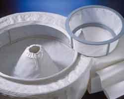 Fasce e sacchi per centrifuga - A paniere normale o estraibile; ad asse verticale o orizzontale; a sacco inverti