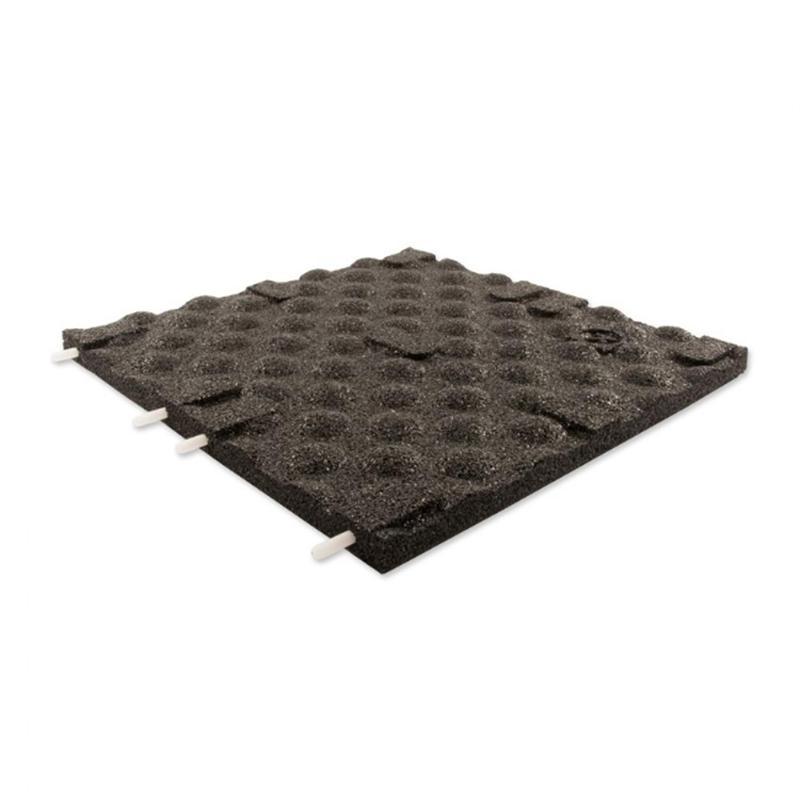 Terrassenplatte schwarz 50x50x3cm Stift/Loch - Gummigranulatmatten