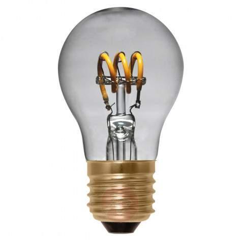 E27 4 W 922 LED rustic bulb Curved Line smoky grey - light-bulbs