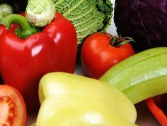 Calabacín, berenjenas, tomates