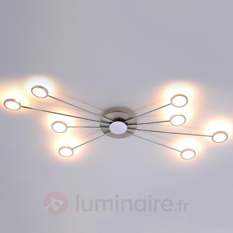 Plafonnier LED Adela à 8 lampes - Plafonniers LED