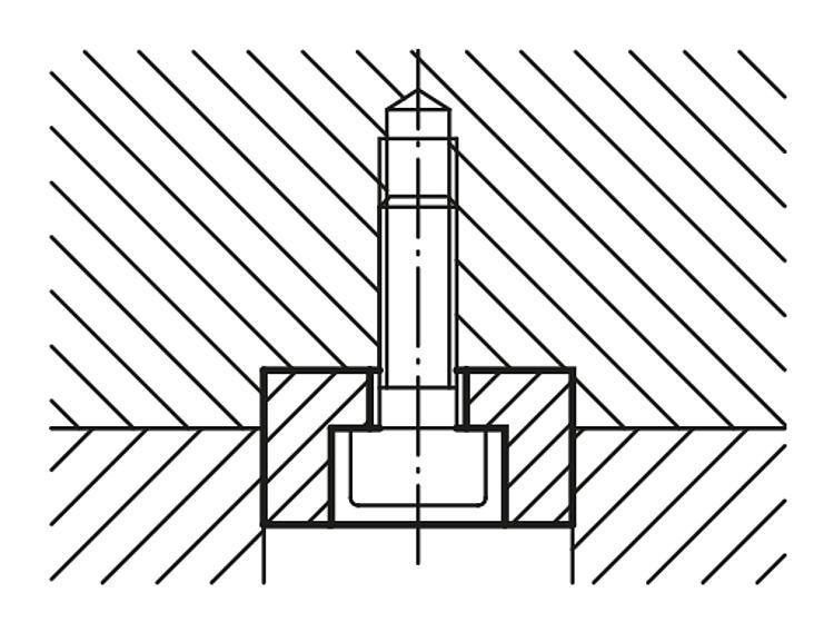 Lardon plat - Cales parallèles, lardons goupilles cylindriques