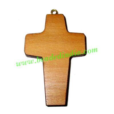 Handmade wooden cross (christian) pendants, size : 44x29x4mm - Handmade wooden cross (christian) pendants, size : 44x29x4mm