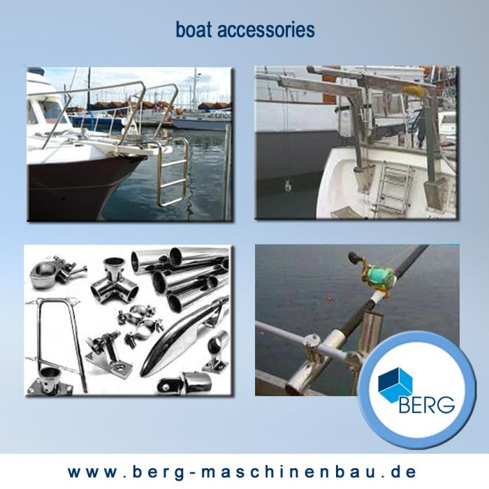 Ship & boat accessories, marine gear - Marine accessories made of stainless steel