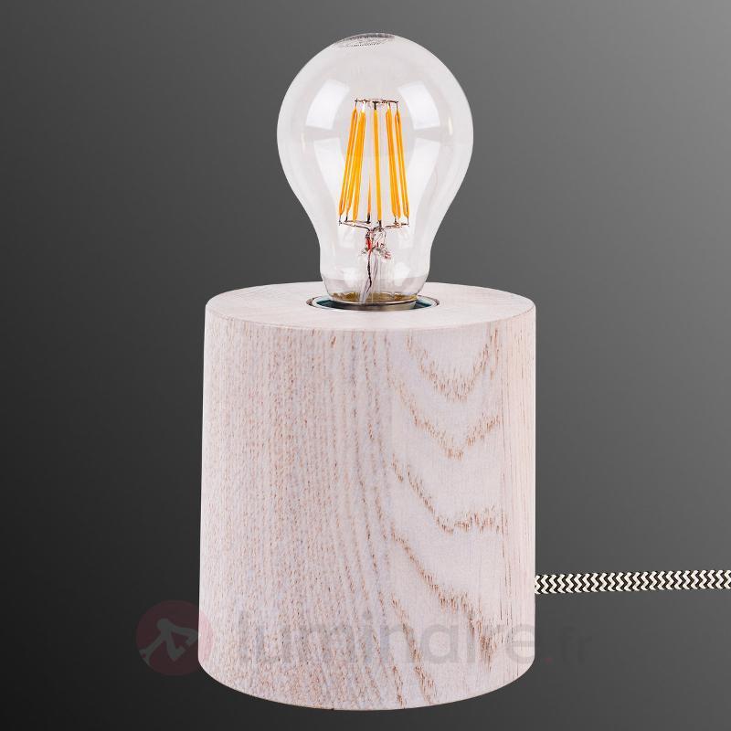Lampe à poser Trongo en bois chêne blanc - Lampes à poser en bois