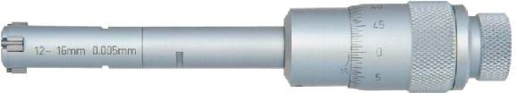 Трехточечный внутренний микрометр - Выпуск: 0,001 мм (6-12 мм) 0,005 мм (12-100 мм) Карбидные измерительные поверхно