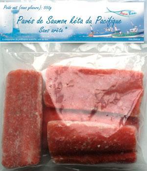 Pavé de Saumon Keta  - Saumon sauvage biologique et surgelé