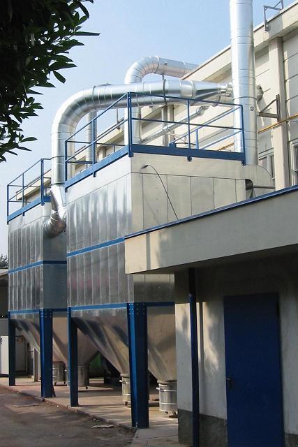 impianto aspirazione e filtrazione industriale