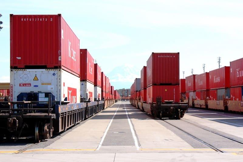 Transportation of goods by rail -