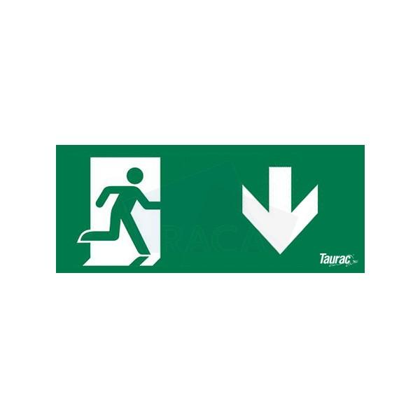 Taurac emergency lighting legend for exit sign  - B1D14601