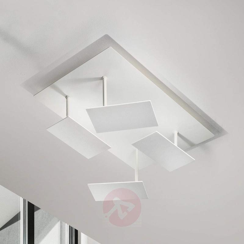 White, modern LED ceiling light Time, adjustable - Ceiling Lights