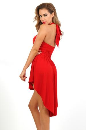 Glamour dress - Bare back pleated sleeveless dress
