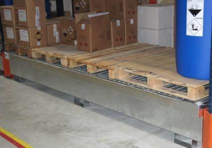 Bac De Rétention Pour Rayonnage 1500 Litres - BRAG RY1500 PE-Bacs de rétention pour rayonnage