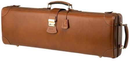 Leather violin case_Q1(V) - Leather violin case/ Brown