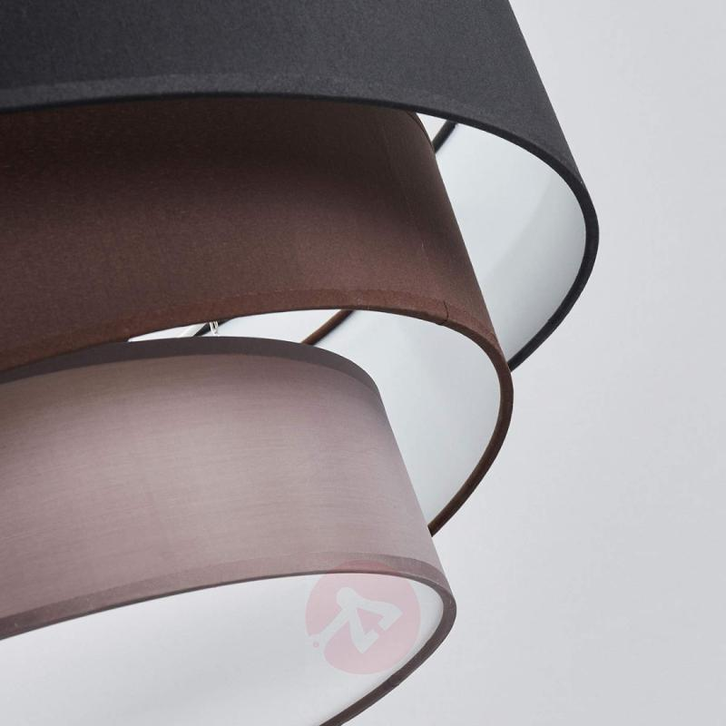 Attractive ceiling lamp Melia, black and brown - indoor-lighting