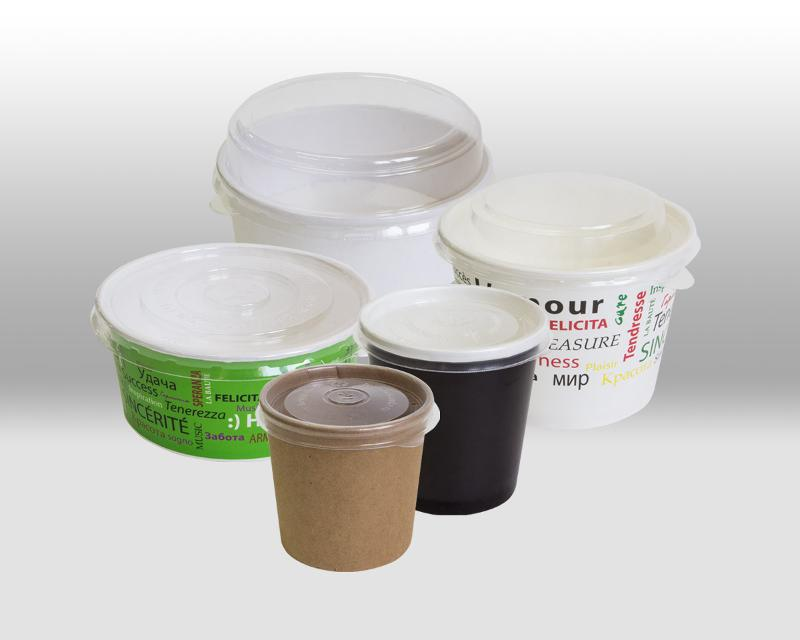 Lids for paper containers - PACKAGING FOR TAKEAWAY