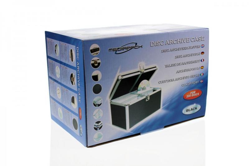CD Koffer für 200 CD's - schwarz - CD Koffer / DJ Koffer