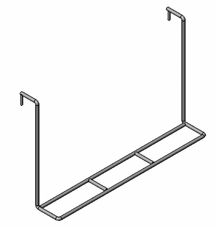Einhänge-Kleiderhalter - Stahl - verchromt - Drahtbiegeteile