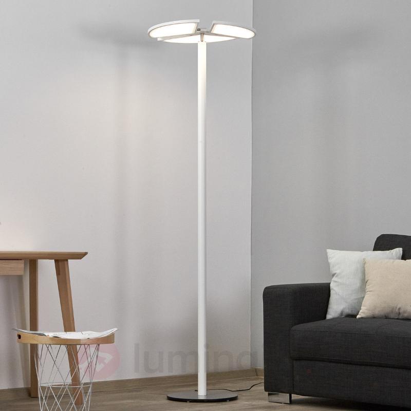 Lampadaire LED blanc Aurela - Lampadaires LED