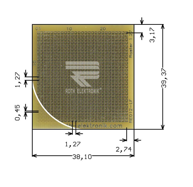 RE012-LF - Prototyping Boards Dual Inline