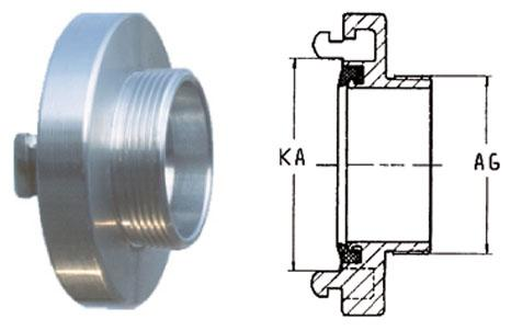 Storz couplings - Adapters with male thread