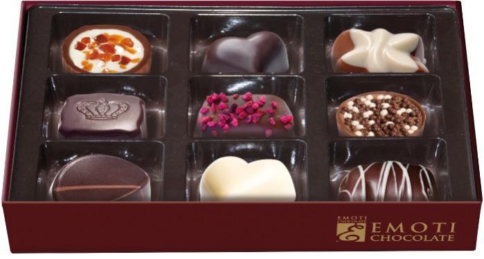 EMOTI Assorted Chocolates, GOLD, La Flambee 120g (bow decora -