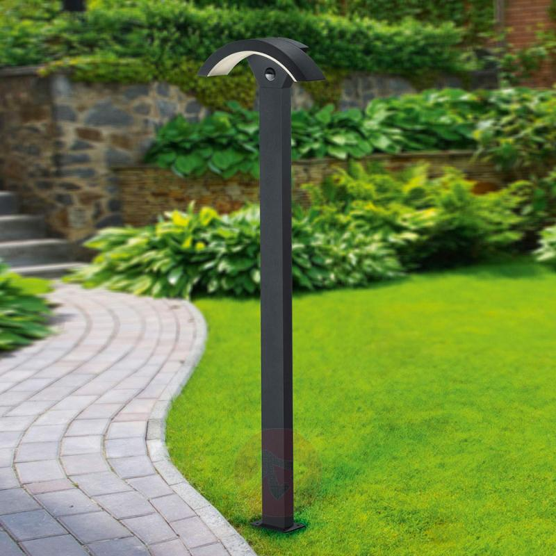 Ohio LED path light with sensor, anthracite - outdoor-led-lights