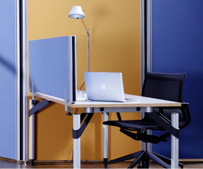 Alu-Klett / Centro-Klett  - Schallabsorbierende Tischaufsatz Elemente
