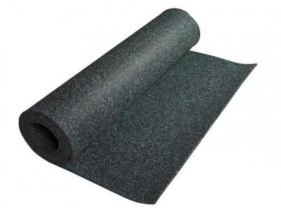 Rubber mat op rol - Rubber mat op rol ter realisatie van een slijtvaste, dempende en fraaie vloer.