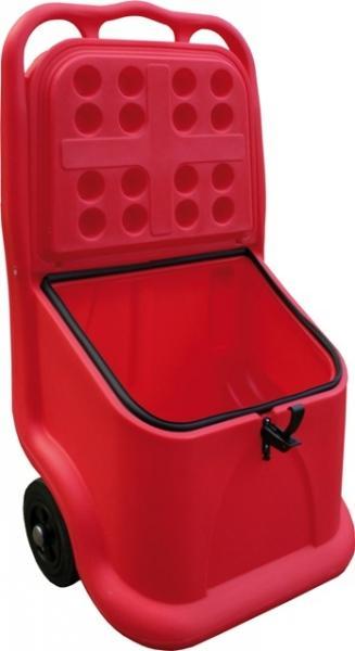 Bac à sel ou sable mobile rouge 75 litres - COFM75R Coffre et bac à sel, sable, absorbants