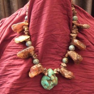 Colliers - Ambre, turquoises, Népal