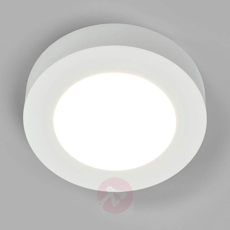 Cool white LED ceiling lamp Marlo, IP44 - Ceiling Lights