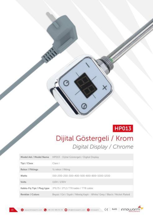 HP013 Krom - Dijital Göstergeli