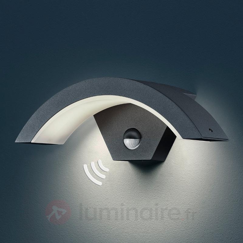 Applique d'extérieur LED Ohio à détect anthracite - Appliques d'extérieur avec détecteur