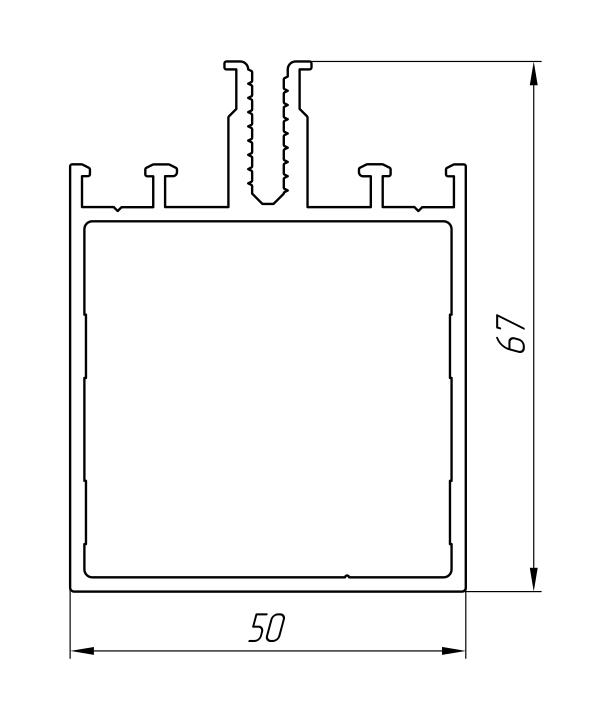 Aluminum Profile For Ventilated Facades Ат-915 - Construction aluminum profile