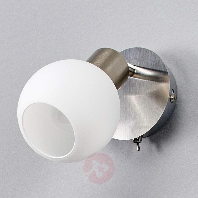 LED wall spotlight Elaina, nickel matte